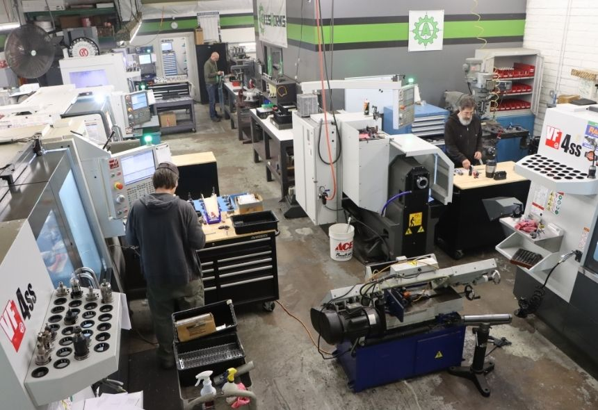 AxisWorks Shop Aerial View